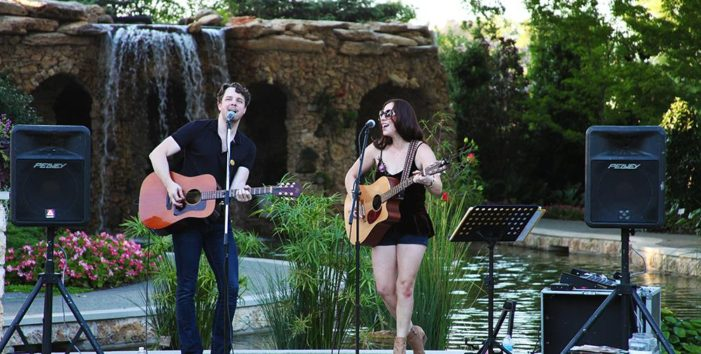 Local artists get grooving in the gardens