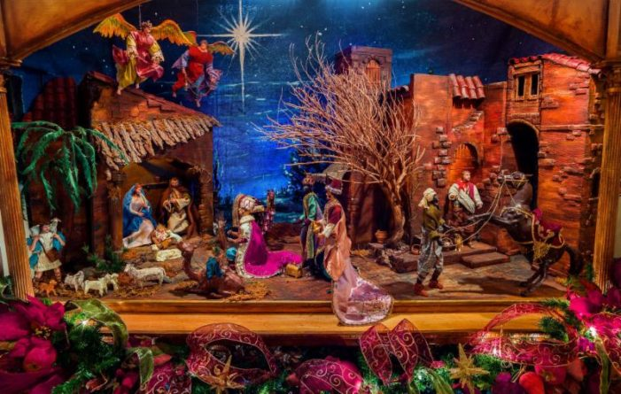 Friends share nativity scenes with community