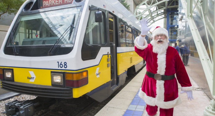 Santa Cops encourage all to 'Stuff a Bus'