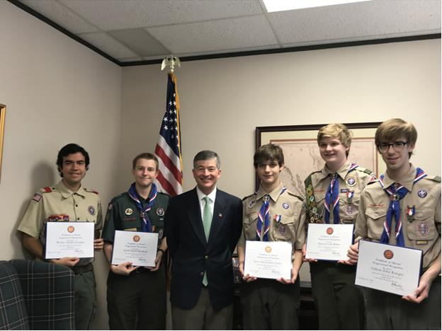 East Dallas celebrates five new Eagle Scouts