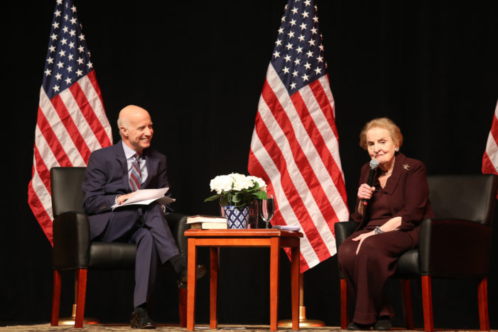 Albright discusses fascism, foreign policy, Trump
