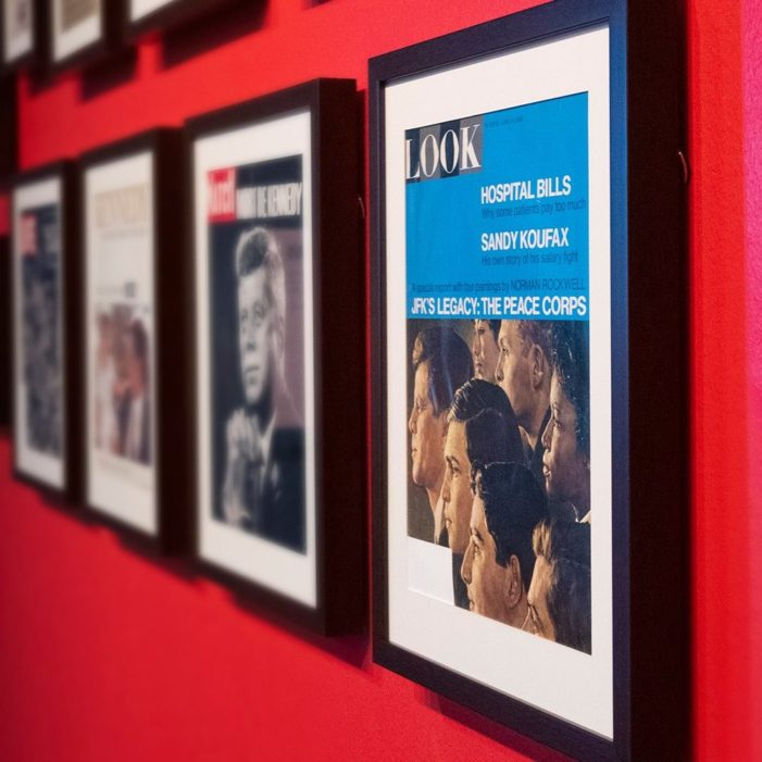 Historic magazine covers exhibit extended