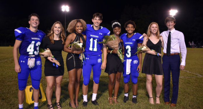 Homecoming Court presented at pep rally