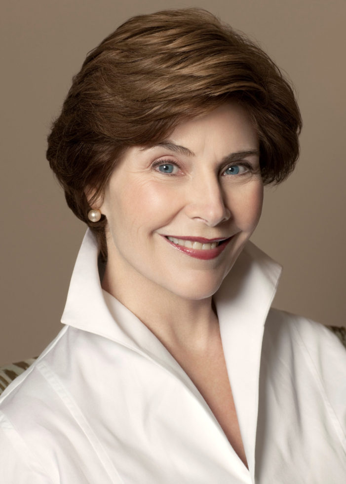 4word to welcome Laura Bush