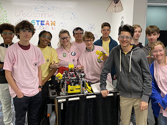 Team builds robots, relationships