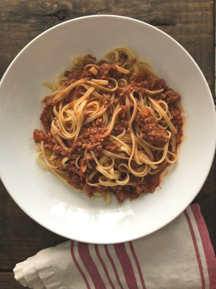 (Relatively Simple) Bolognese Sauce